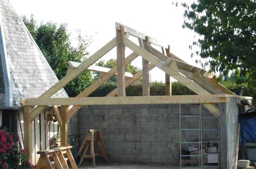 charpente en bois pour garage